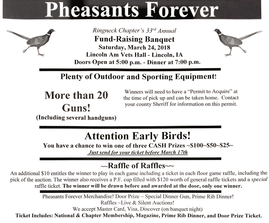 Pheasant's Forever Banquet